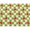 Patchworkstoff Erdbeeren Karos grün rot Farmgirls Unite