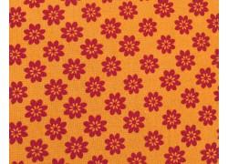 Quiltstoff Blumenstoff Newbury orange