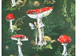 Daniela Drescher Stoff Fliegenpilze Elfen Baumwollstoff