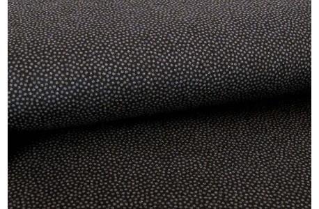 Stoff Punkte schwarz