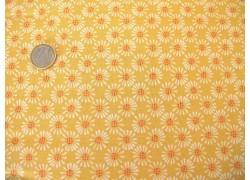 Patchworkstoff Blumen gelb