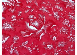 Blumenstoff rot Cranberries & Cream Quiltstoff