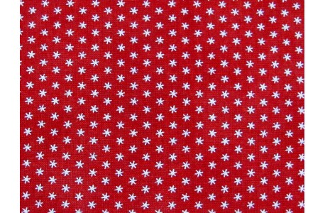 Stoff Sterne rot Cranberries & Cream Quiltstoff