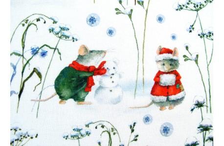 Stoff Daniela Drescher Wintermäuse