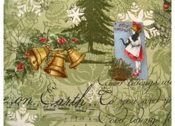 Weihnachtsstoffe Patchwork Marches De Noel grün rot