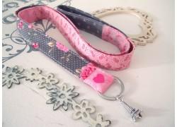 Schlüsselband rosa taupe
