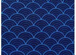 Patchworkstoff Wellen blau Pure Delight Quiltstoff