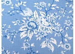 Rosenstoff blau Crystal Lane Patchworkstoff