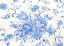 Rosenstoff blau weiß Crystal Lane Quiltstoff