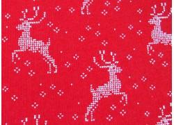 Weihnachtsstoff Patchwork Nordic Stitches rot