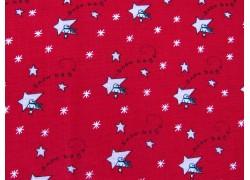 Weihnachtsstoff Patchwork Merry Merry rot
