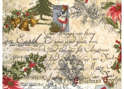 Weihnachtsstoffe Patchwork Marches De Noel creme rot