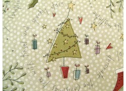 Weihnachtsstoffe Patchwork All for Christmas Engel