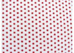 Quiltstoff Sterne rot weiß Cranberries & Cream