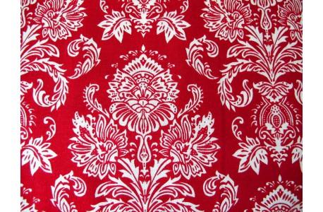 Stoff Ornamente rot weiß