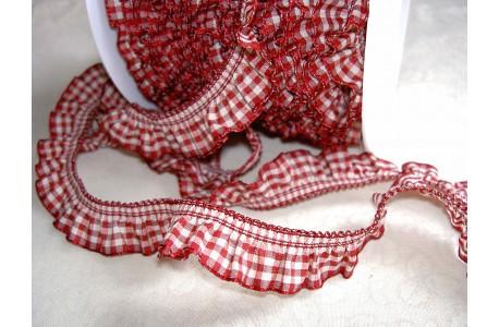Rüschenband rot