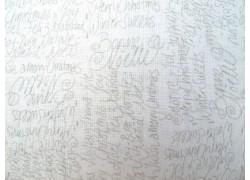 Stoff Text grau weiß