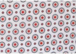 Stoff Ornamente rot grau weiß