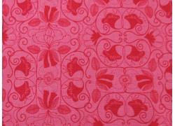 Stoff Blumen pink