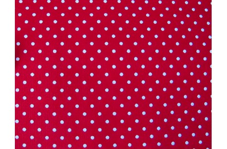 Stoff Punkte rot
