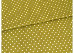 Stoff Punkte grün