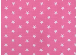 Stoff Sterne pink