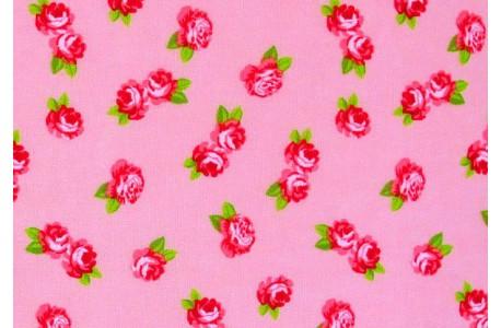 Stoff Röschen pink