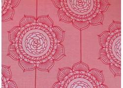 Stoff Blumen rosa