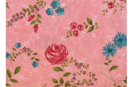 Stoff Rosen rosa