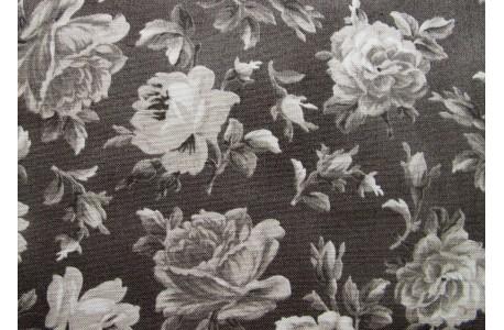 Stoff Rosen braun