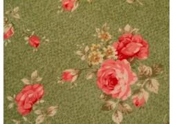 Stoff Rosen grün
