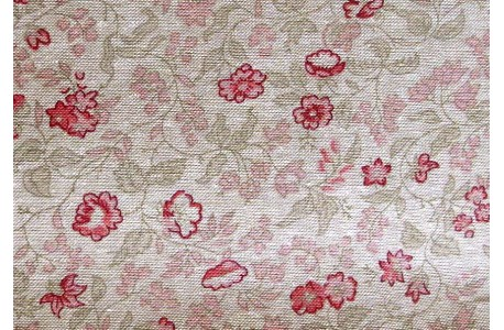 Stoff Blümchen rosa natur