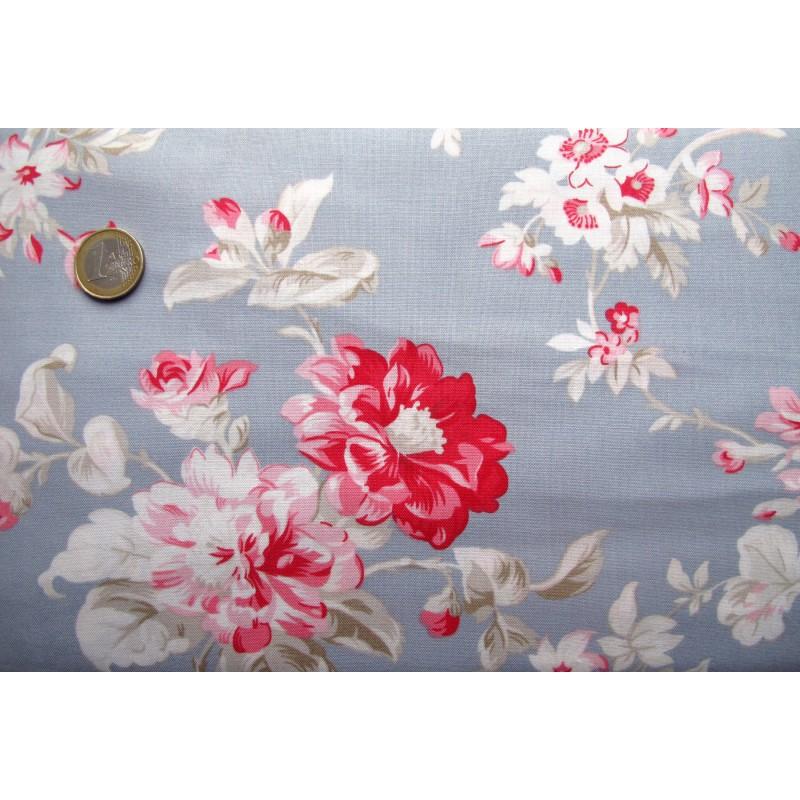 tanya whelan patchworkstoff blumen blau pink hettyrosepatch. Black Bedroom Furniture Sets. Home Design Ideas