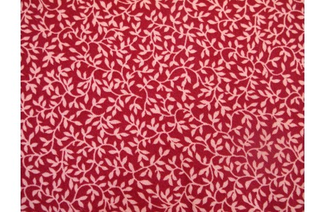Stoff Blätter rosa rot