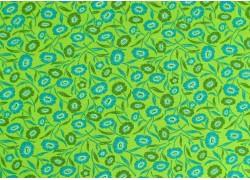 Stoff Blumen grün türkis
