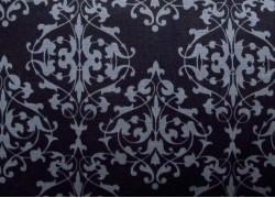 Stoff Ornamente schwarz