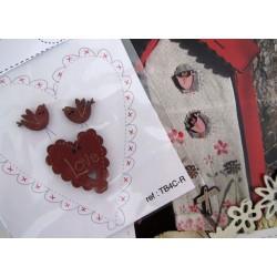 Holzknöpfe Love Herz