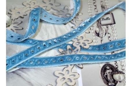 Samtband blau türkis