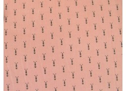 Stoff Ornamente rosa