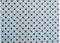 Stoff Punkte rot blau