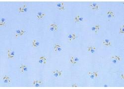 Stoff Streublümchen hell blau