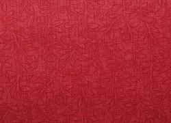 Stoff Blumen Vögel rot