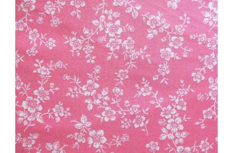 Stoff Wildrosen rosa