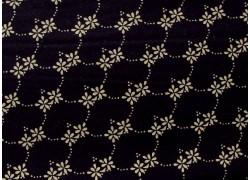 Stoff Blumen schwarz