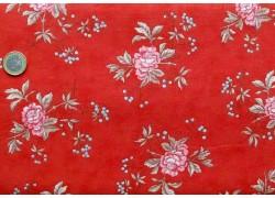 Stoff Röschen rot rosa