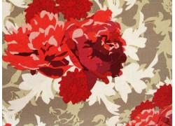 Stoff Rosen rot taupe
