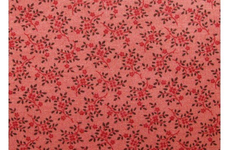 Stoff Streublümchen rost rot