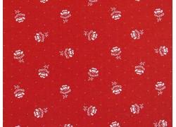 Stoff Blümchen rot weiß