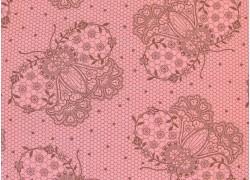 Stoff Schmetterlinge rosa