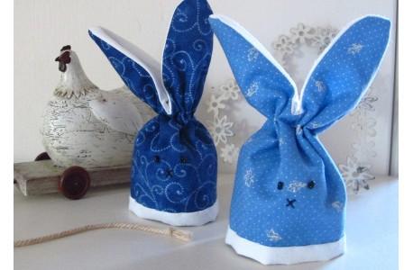 Eierwärmer blau Häschen